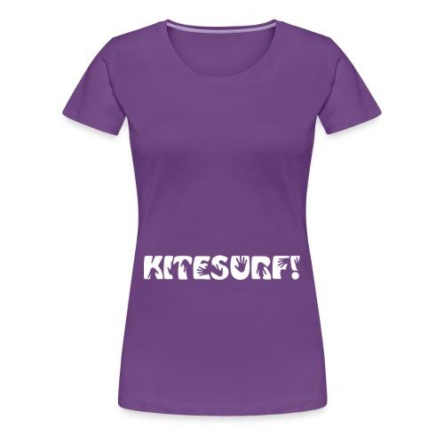Kitesurf. Hands on! - Premium-T-shirt dam