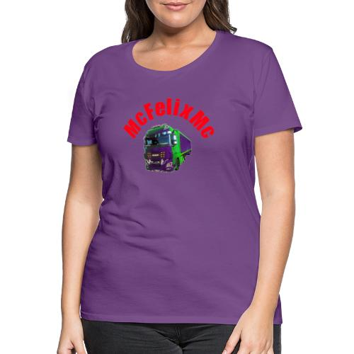 Truck DAF XF mit Namen - Frauen Premium T-Shirt