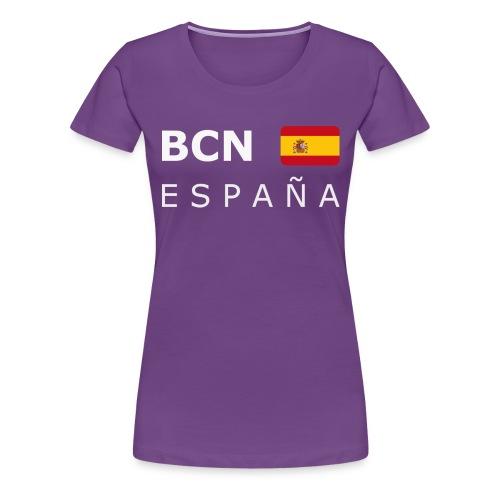BCN ESPAÑA white-lettered 400 dpi - Women's Premium T-Shirt