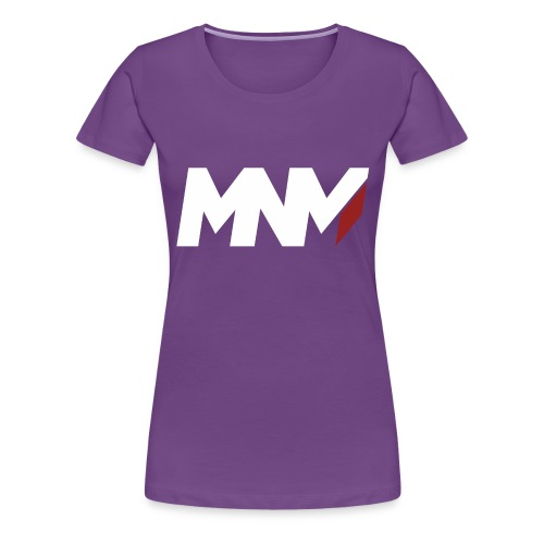 MNM With RED WHITE Corner - Women's Premium T-Shirt