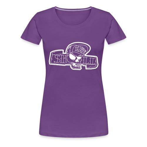 teschio con capellino - Maglietta Premium da donna