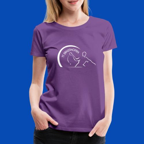 TTE Logo Weiss - Frauen Premium T-Shirt