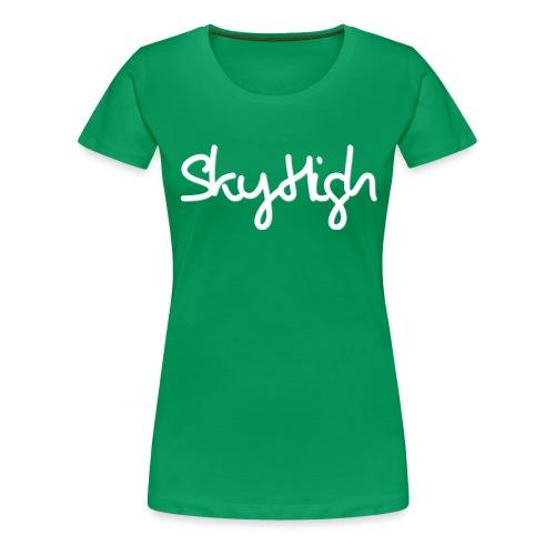 SkyHigh - Men's Premium Hoodie - White Lettering - Women's Premium T-Shirt