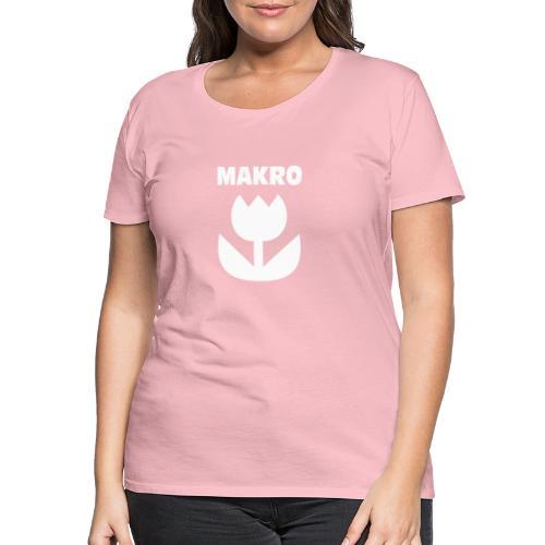 Makro Makrofotografie Icon Symbol weiß - Frauen Premium T-Shirt