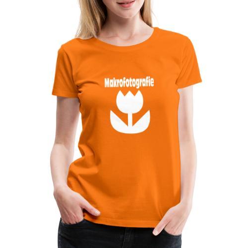 Wort Makrofotografie Icon Symbol Blume weiß - Frauen Premium T-Shirt
