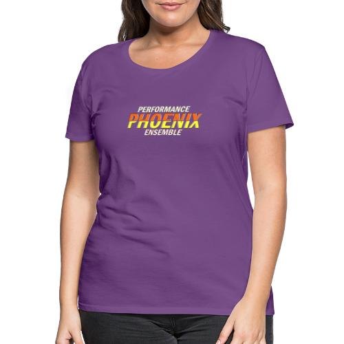 Phoenix Distorted Yellow - Frauen Premium T-Shirt
