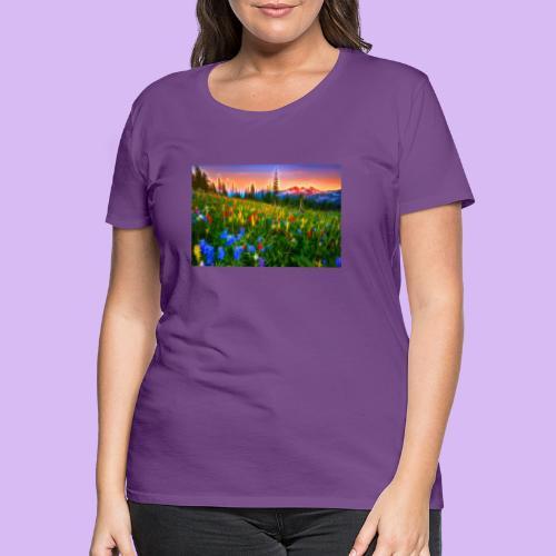 Bagliori in montagna - Maglietta Premium da donna