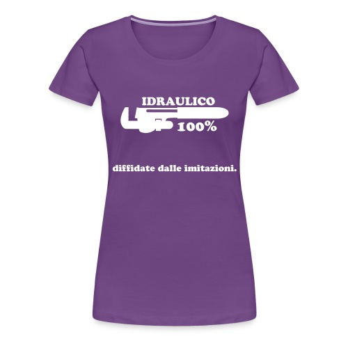 Idraulico 100% Logo XL BIANCO - Maglietta Premium da donna