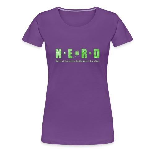 NERD Green - Dame premium T-shirt