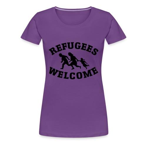 Refugees Welcome - T-shirt Premium Femme