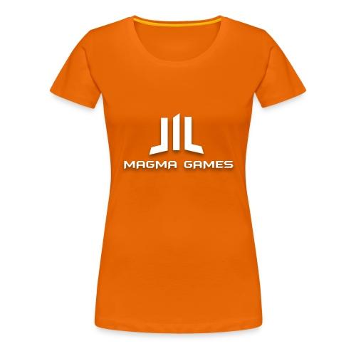 Magma Games mok zwart met - Vrouwen Premium T-shirt