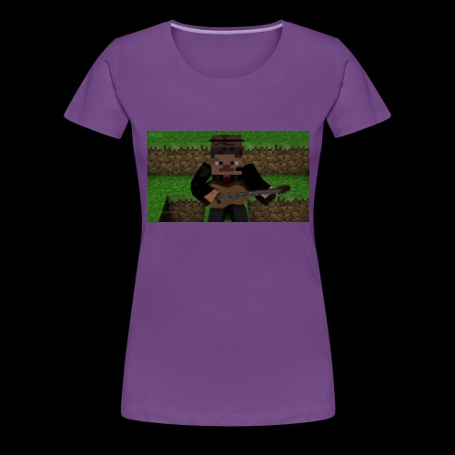 Dannespelar spelar gitarr - Premium-T-shirt dam