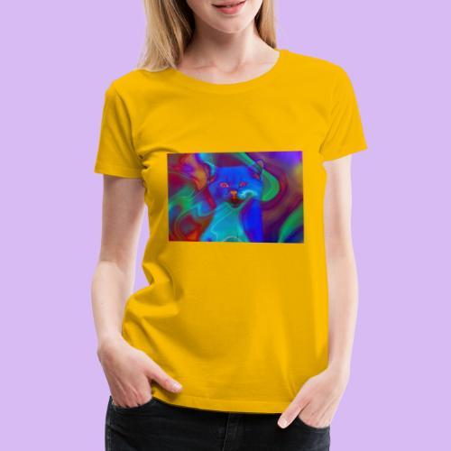 Gattino con effetti neon surreali - Maglietta Premium da donna