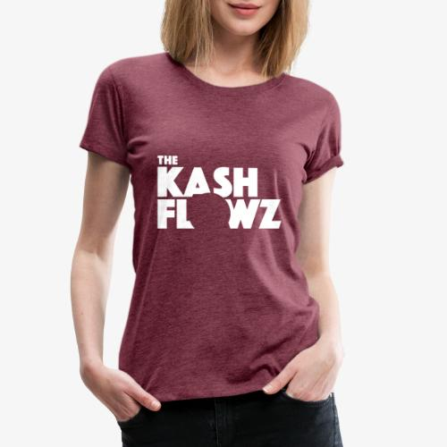 The Kash Flowz Official Logo White - T-shirt Premium Femme