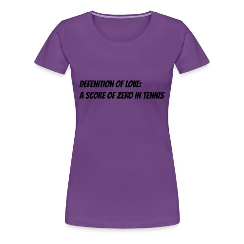 Tennis Love sweater men - Vrouwen Premium T-shirt