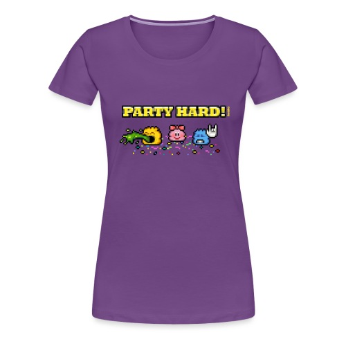 Party Hard! - Frauen Premium T-Shirt