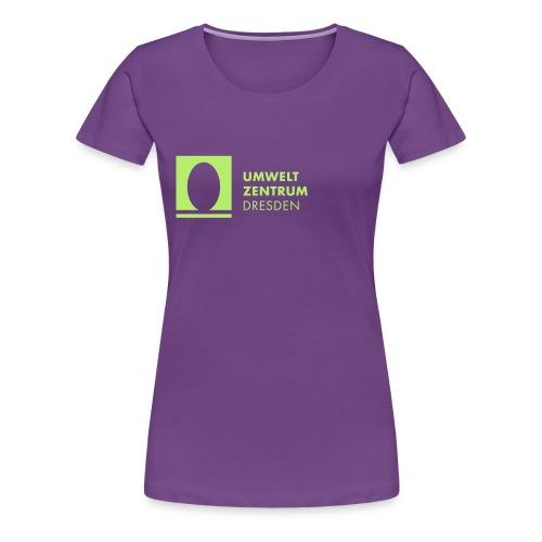 UZ-Logo-h-Schwarz - Frauen Premium T-Shirt