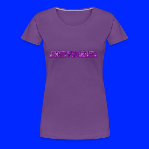 CrazySwedes PurpleThunder - Premium-T-shirt dam