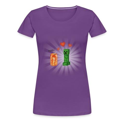 Minecraft / Creeper amoureux d'une canette - T-shirt Premium Femme