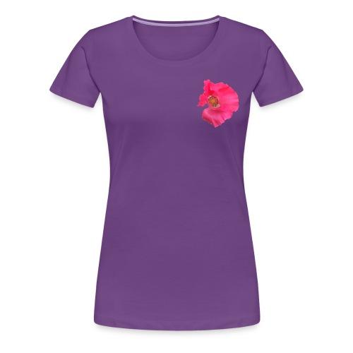 Mohnblume solo - Frauen Premium T-Shirt