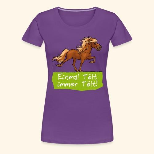 Island Pferd Tölt - T-shirt Premium Femme