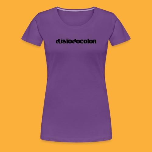DJATODOCOLOR LOGO NEGRO - Camiseta premium mujer