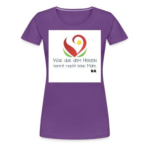 was aus dem herzdeutschbunt - Frauen Premium T-Shirt