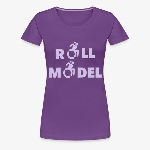 Dame in rolstoel is ook een roll model - Vrouwen Premium T-shirt
