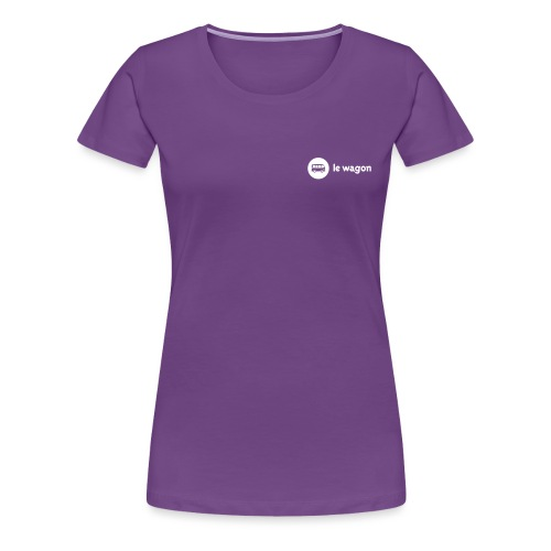 white logo black font - Women's Premium T-Shirt