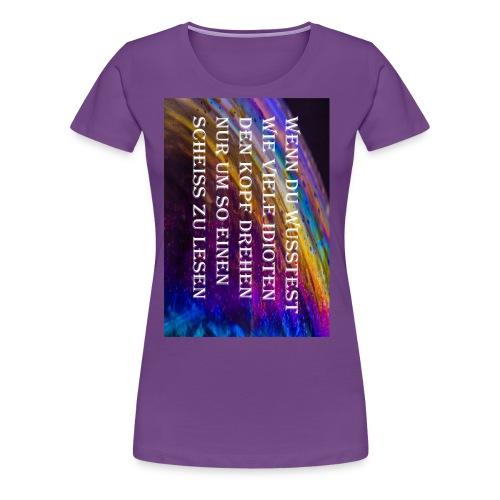 Rastergrafik Idiot3 png - Frauen Premium T-Shirt