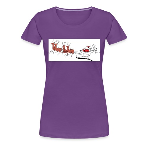 pictures-of-santa-and-reindeer-UDuZhz-clipart - Women's Premium T-Shirt