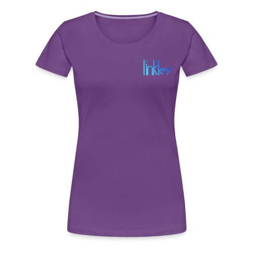 Linkley Text Blue - Women's Premium T-Shirt
