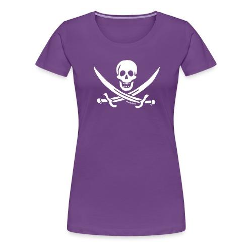 pirateskull white - T-shirt Premium Femme