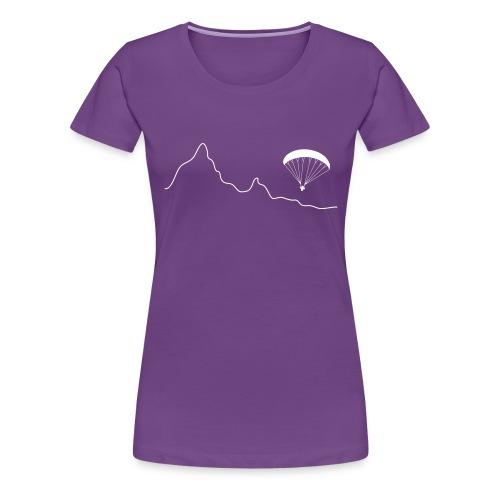 Paraglider über Bergkulisse - Frauen Premium T-Shirt