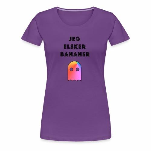Banan elsker - Premium T-skjorte for kvinner