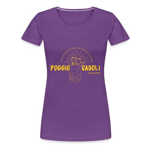 Poggio Casoli_Istituzionale_Giallo - Maglietta Premium da donna