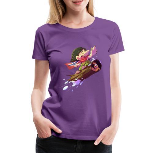 Snowboarder troll - Women's Premium T-Shirt