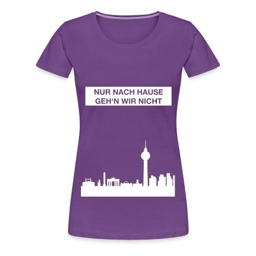 Berlinskyline_weiß - Frauen Premium T-Shirt