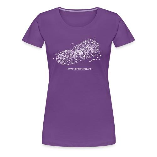 Schwarzkarte Waldbüttelbrunn, weiß - Frauen Premium T-Shirt