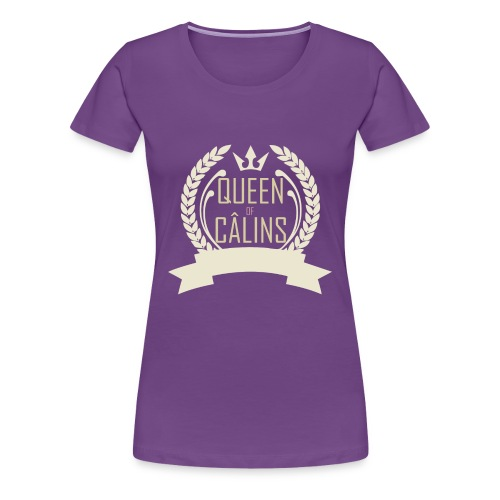 Queen of Câlins Brown - T-shirt Premium Femme