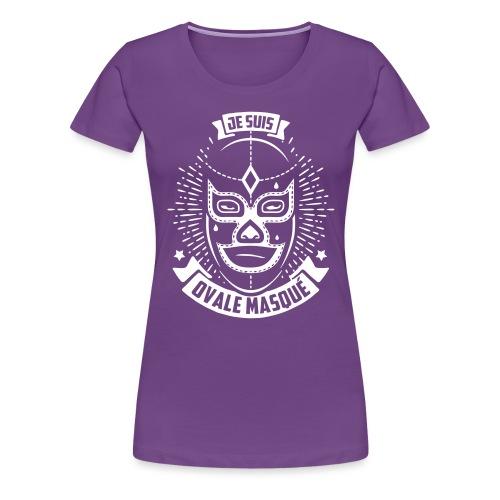 Je suis Ovale Masqué - T-shirt Premium Femme