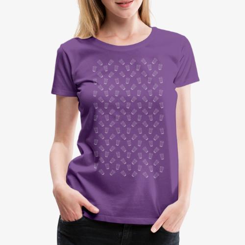 Dubbeglas - Muster - Weiss - Weinschorle - Pfalz - Frauen Premium T-Shirt