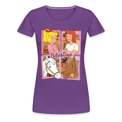 Bibi und Tina mit Amadeus und Sabrina - Frauen Premium T-Shirt