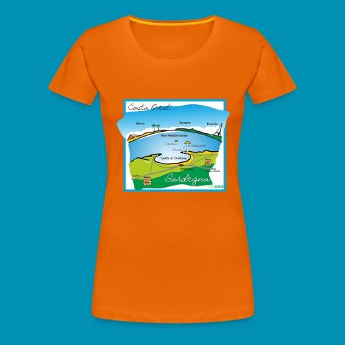 Costa Ovest png - Maglietta Premium da donna