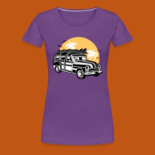 Chevy Cadilac Woodie / Oldtimer Kombi 01_3c - Frauen Premium T-Shirt