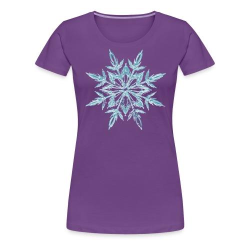 Weihnachten Eiskristall - Frauen Premium T-Shirt