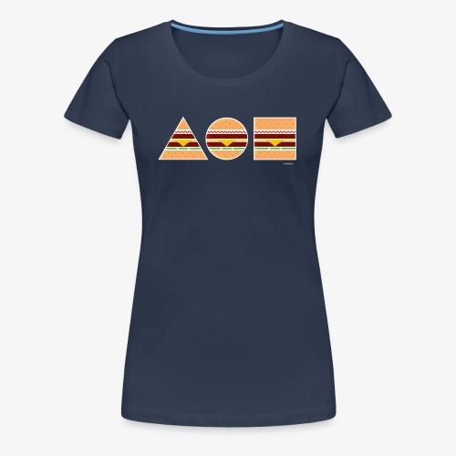 Graphic Burgers - Maglietta Premium da donna