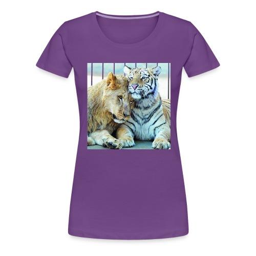 lejontiger - Premium-T-shirt dam