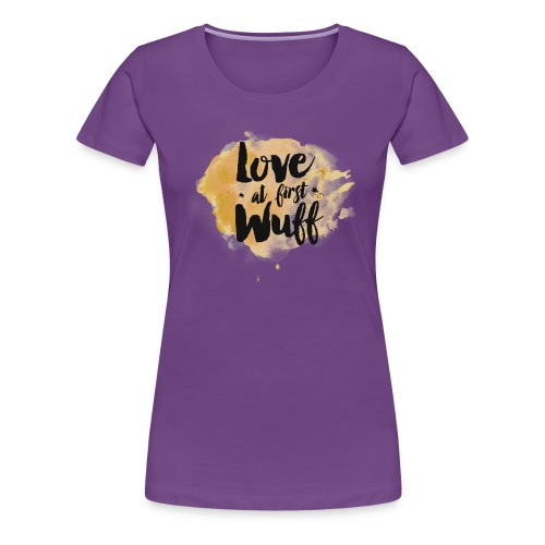 Love at first Wuff - Frauen Premium T-Shirt