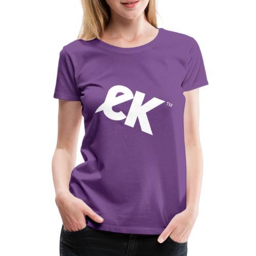 EK logo blanc # 1 - T-shirt Premium Femme